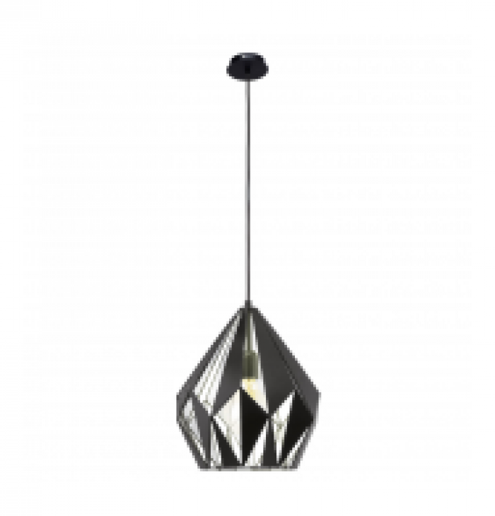 Angled Brushed Metal 1 Light Pendant