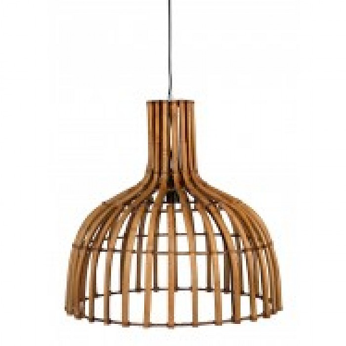 Bamboo 1 Light Pendant