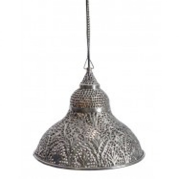 Pressed metal 1 light pendant