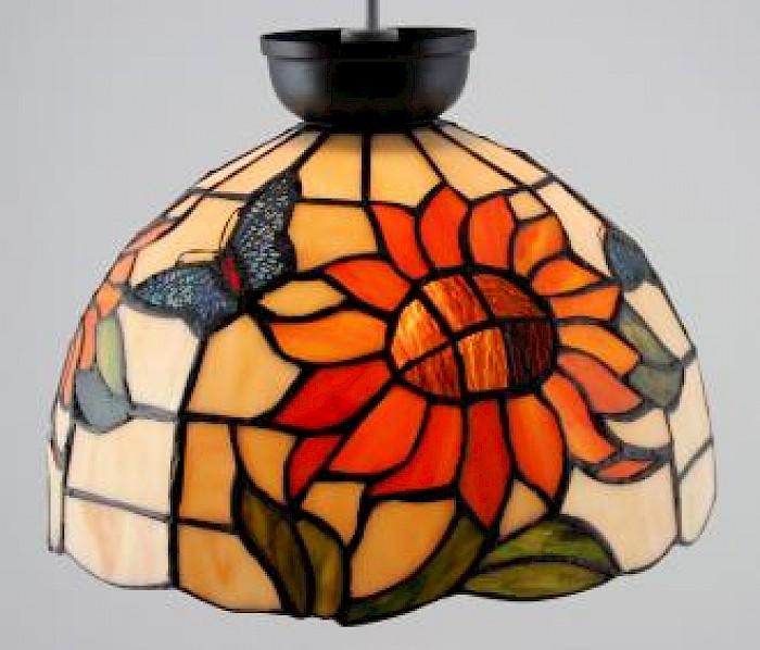 Sunflower lead-light batten-fix