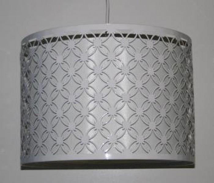 White metal-fabric drum batten-fix