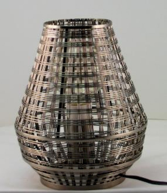 Antique Copper metal weave lamp