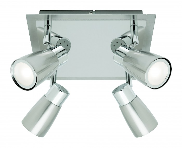 4 x 9w Led square plate spotlight br-chrome