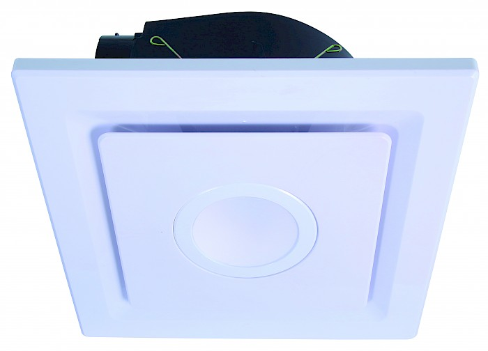 Square exhaust fan & 10w led light