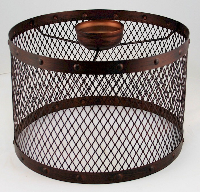 Mesh bronze metal large drum