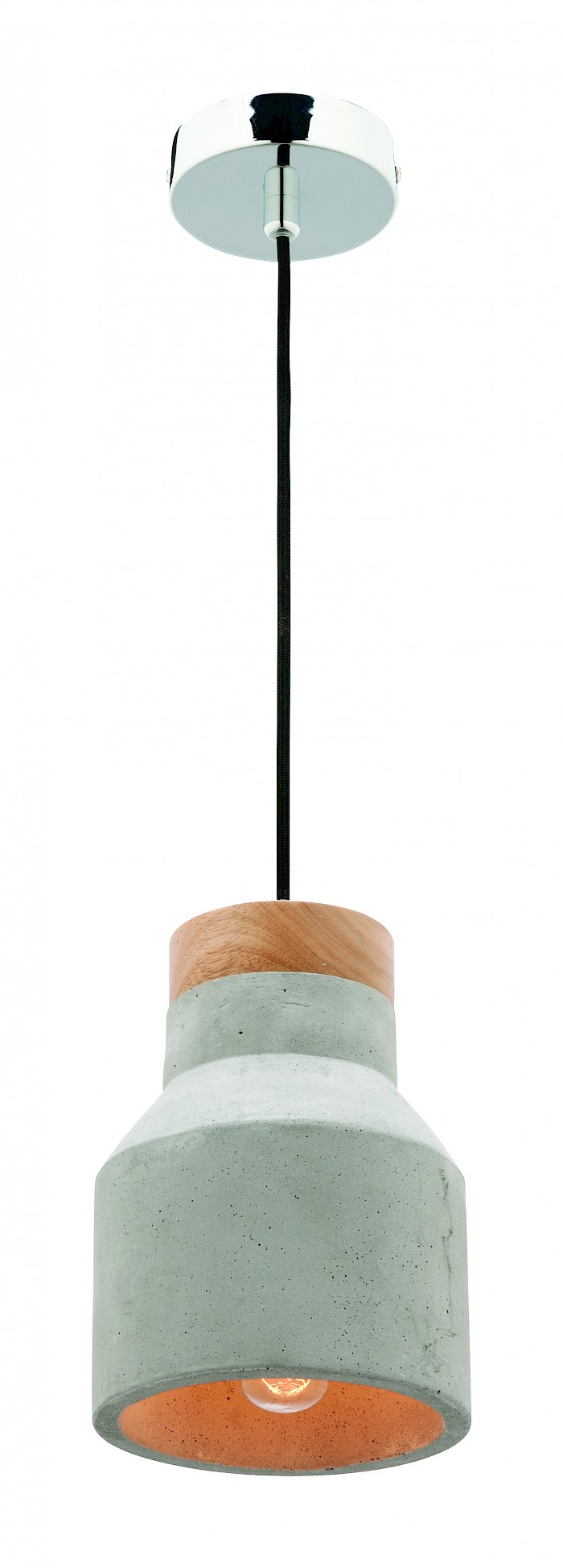 1 light concrete pendant