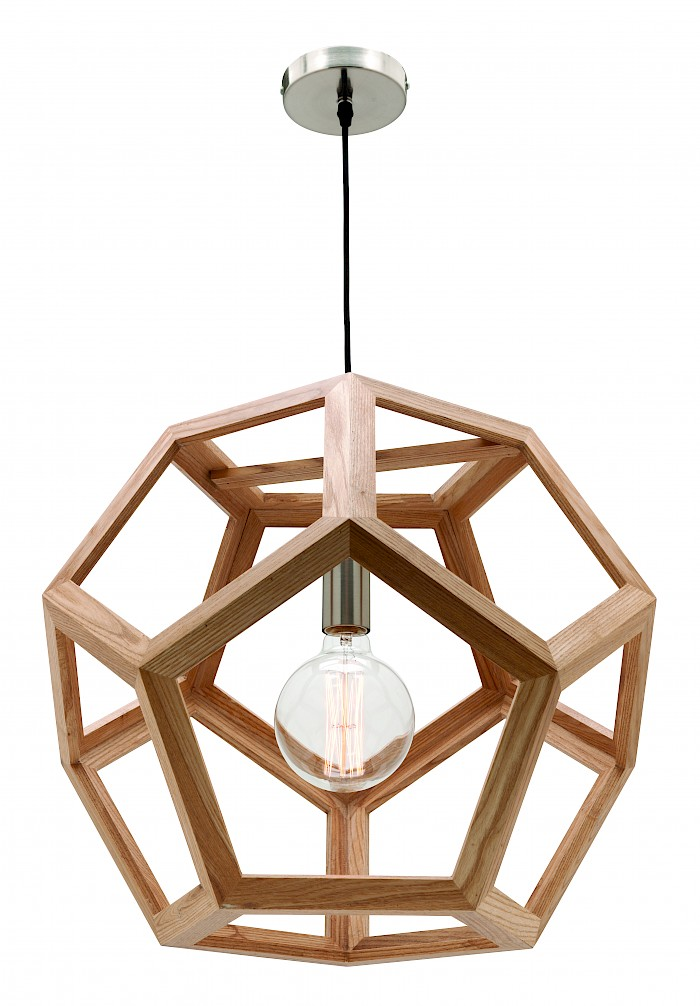 1 light timber pendant