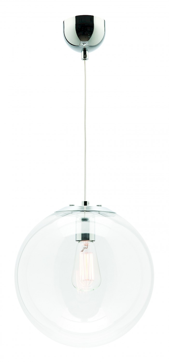 1 Light glass ball pendant