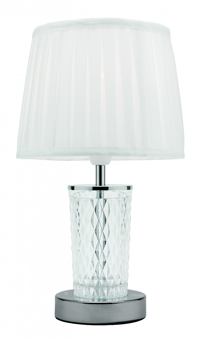 Clear cut glass table lamp