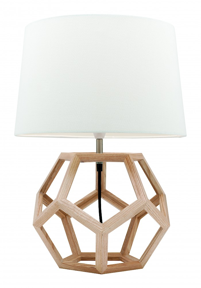Natural timber table lamp