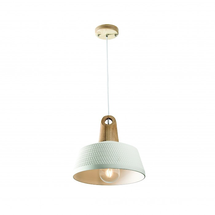 Ceramic & Timber 1 light Pendant