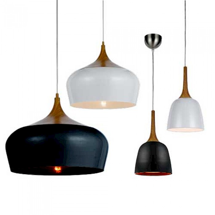 Metal & Timber Look Pendants
