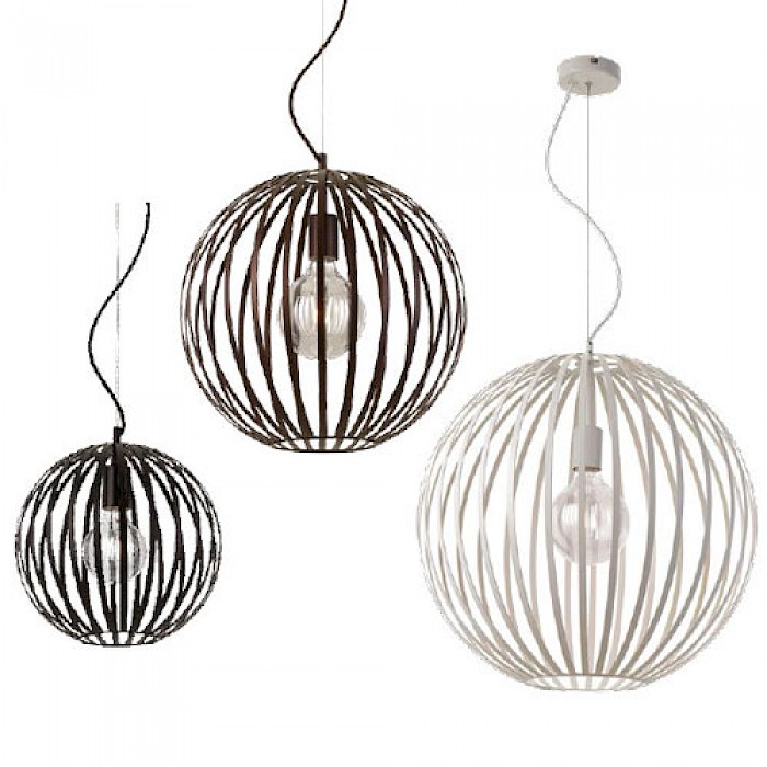Metal Strapped Sphere Pendants