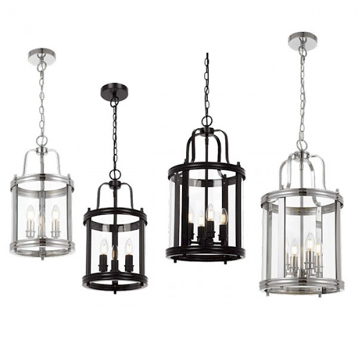 3 Light Chrome Lantern