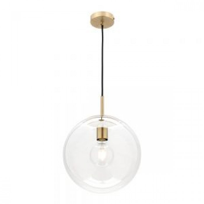 1 Light Glass/Brushed Brass Pendant