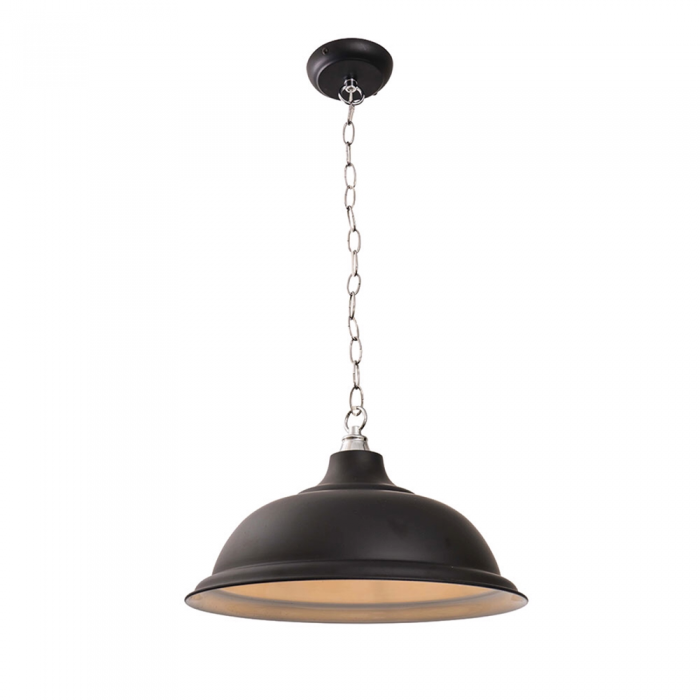 1 Light Black & Chrome Pendant