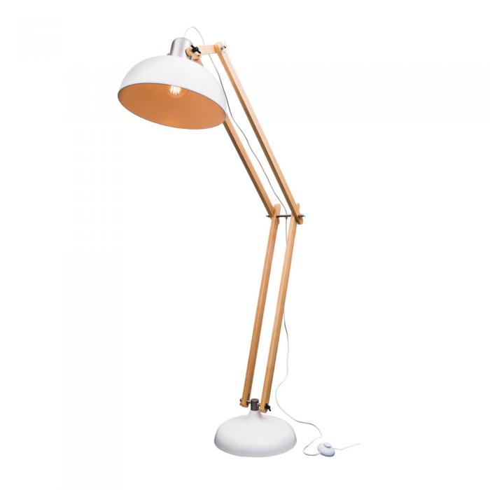 Timber & Metal Floor Lamp
