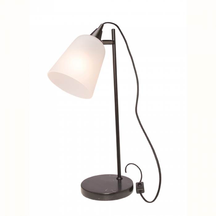 Metal & Glass Table Lamp