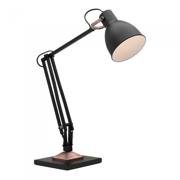 Black/Copper Task Lamp