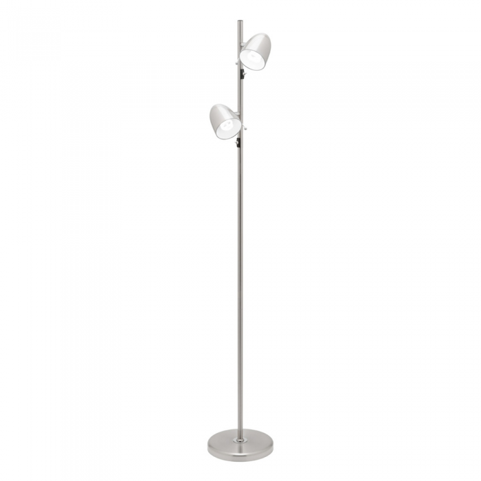 2 Light Metal Floor Lamp