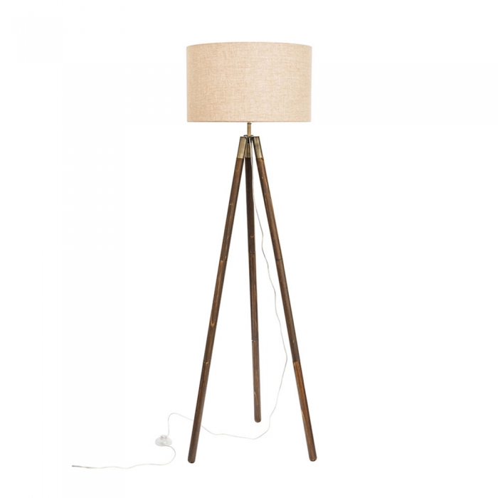 Timber Tripod Floor Lamp