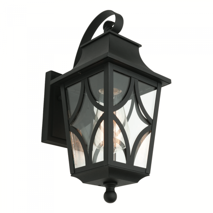 Black Cast Aluminium Wall Light