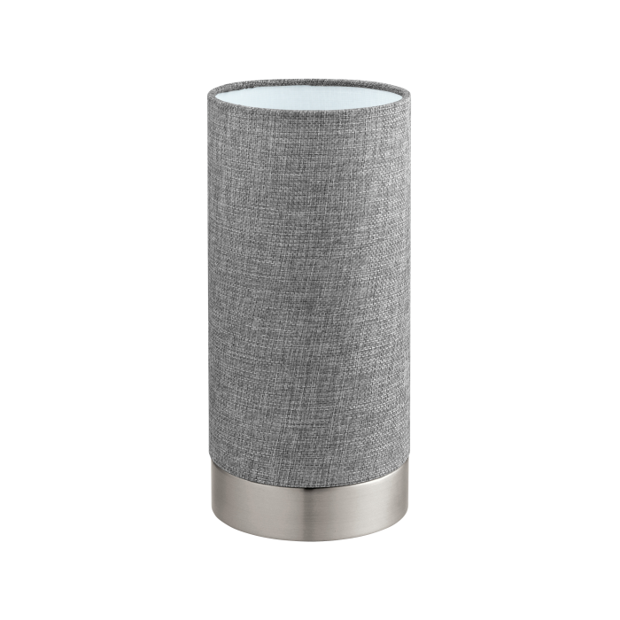 Grey Linen Fabric Touch Lamp