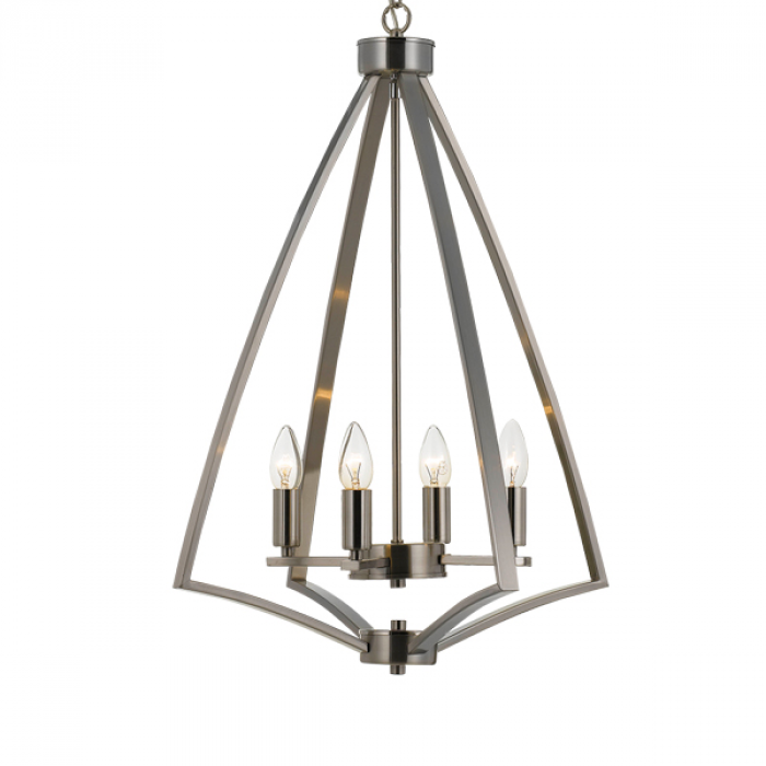 Matt Nickel 4 Light Pendant