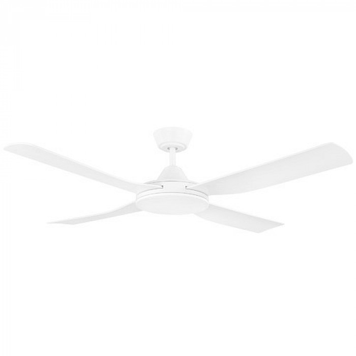 AC 4 bladed ceiling fan in black or white. EO