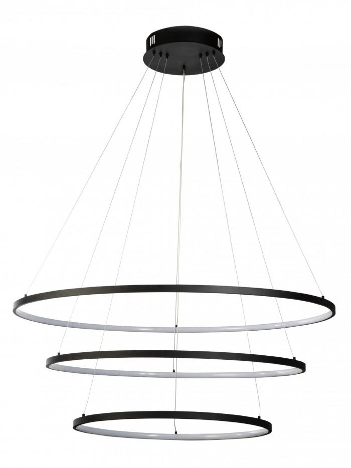 3 Ring LED Black Pendant